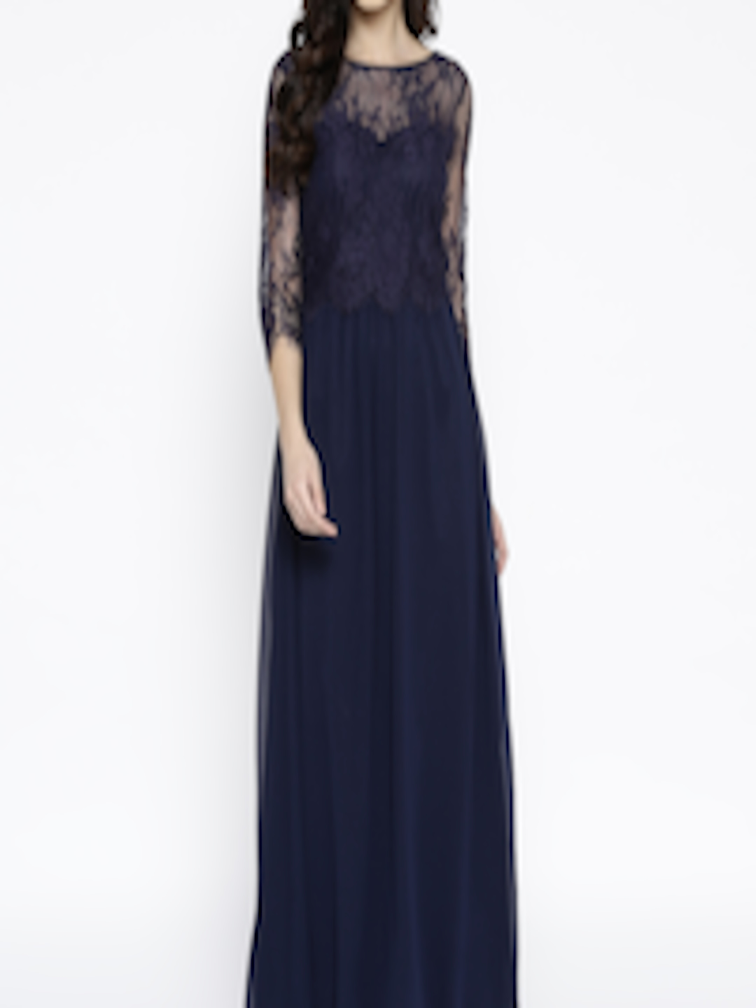 Buy DOROTHY PERKINS Women Navy Blue Solid Maxi Dress ...