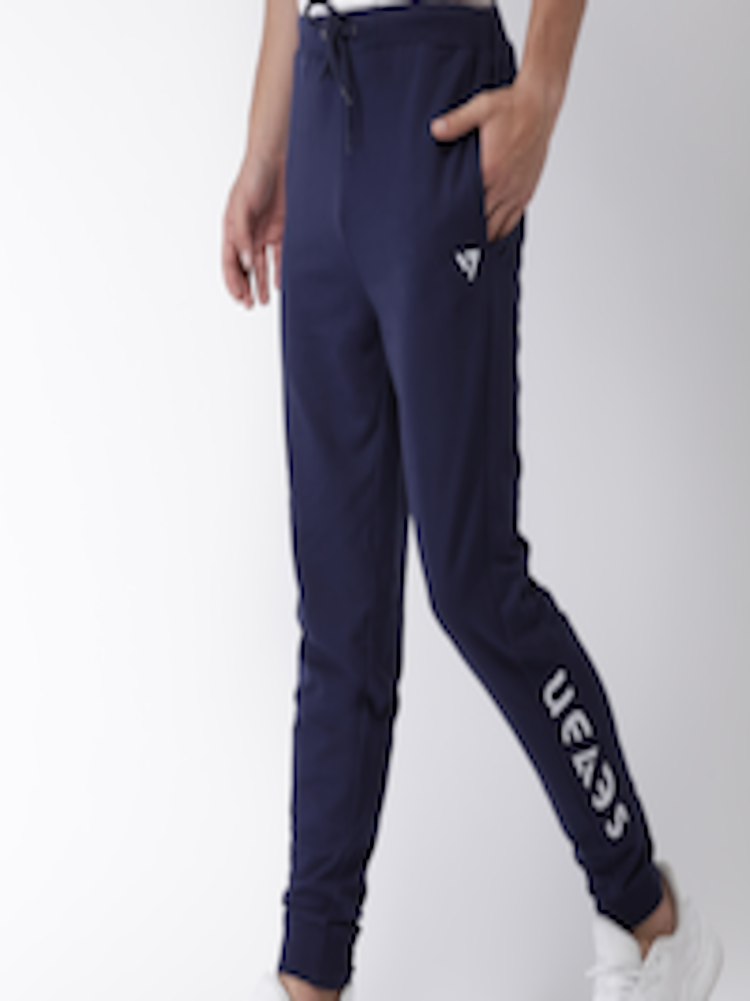 Buy SEVEN By MS Dhoni Men Navy Solid Joggers Apparel for Men