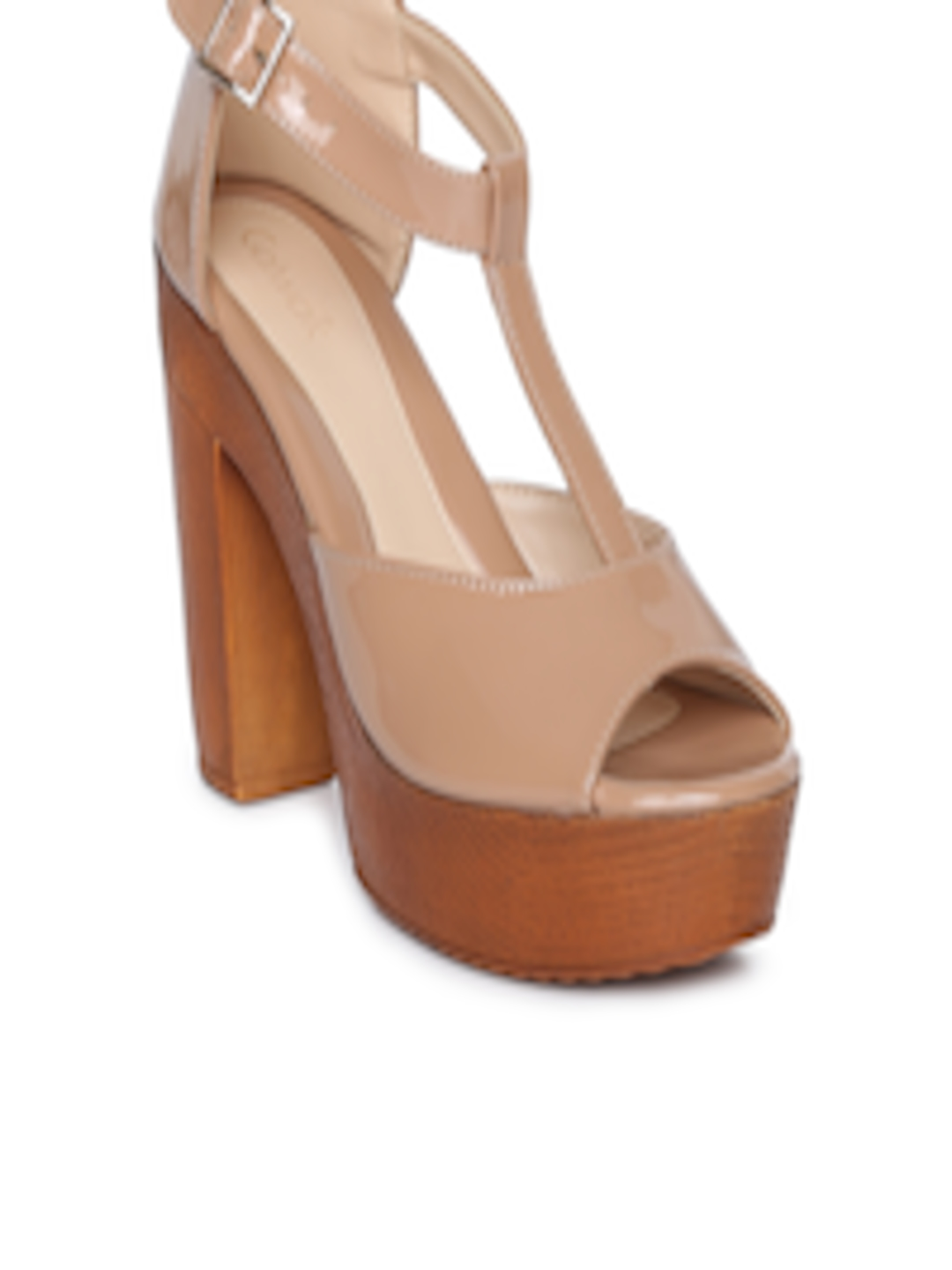 Buy Mode By Red Tape Women Nude Coloured Solid Sandals