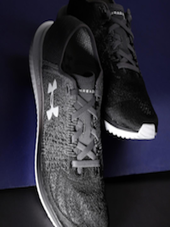 f7ef88498c Buy UNDER ARMOUR Men Black & Grey Woven Design UA Threadborne Blur Running  Shoes - - Footwear for Men