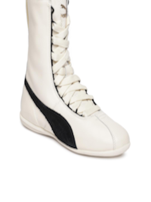 f626887cf2d5a Buy Puma Women Off White Eskiva High Top Leather Sneakers - - Footwear for  Women