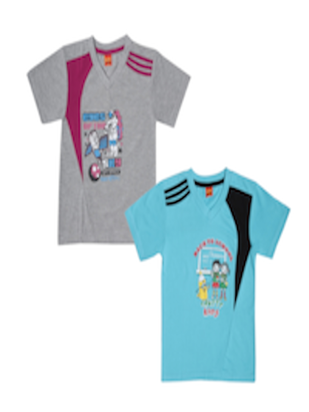 3914f5f3d563 Buy Dollar Champion Kidswear Boys Pack Of Two Printed T Shirts ...