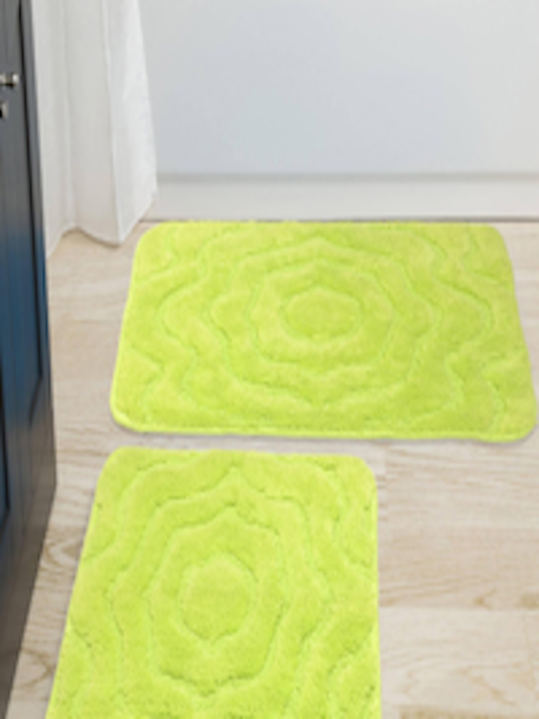 Buy Saral Home Set Of 2 Green Bath Rug Contour Home For Unisex