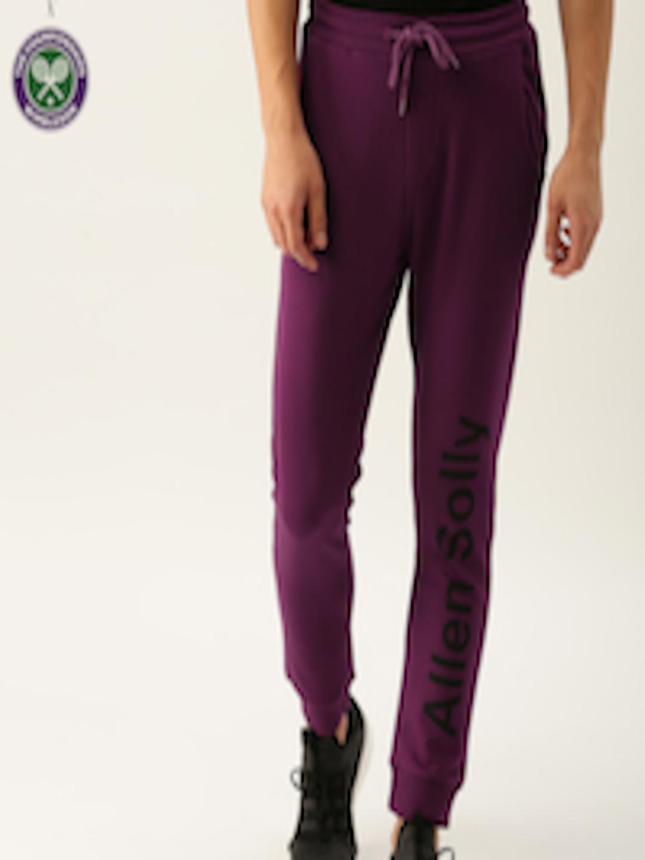 Men Purple Printed Joggers by Allen Solly Sport