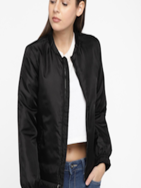 Buy Van Heusen Woman Women Black Solid Padded Jacket ...