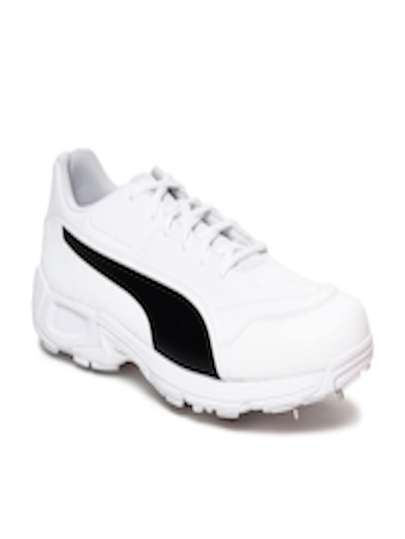 199842353a6 Buy Puma Men White EvoSPEED 18.1 C Spike Cricket Shoes - Sports ...
