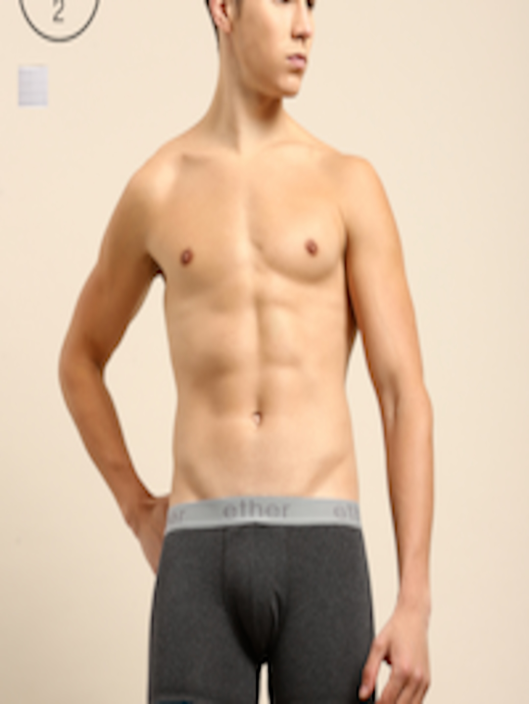 Men Pack Of 2 Premium Cotton Ultrasoft Trunks Ethr Trnk Pk2 002 F by Ether