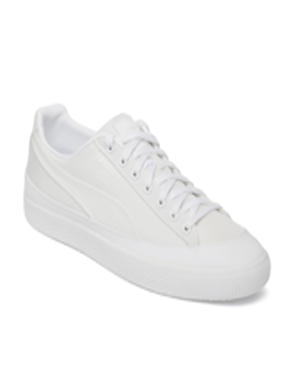2e7a5a306e1e Buy Puma Men White Clyde Rubber Toe Sneakers - Casual Shoes for Men 8128983
