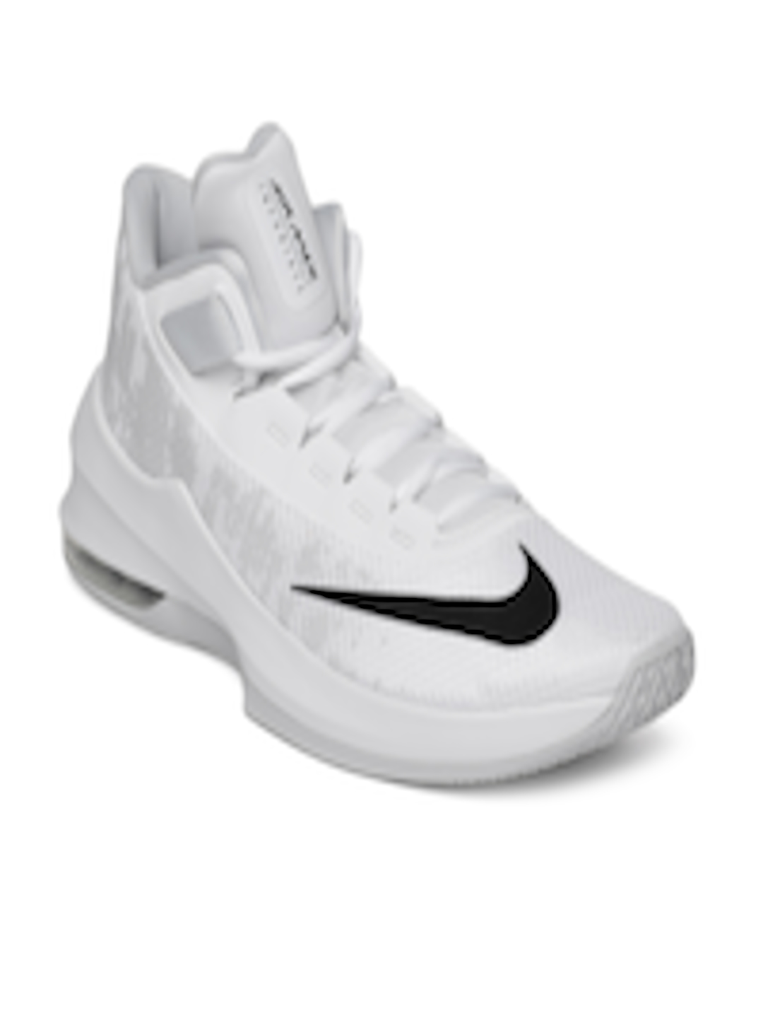 photos officielles e1761 f3844 Buy Nike Men White Air Max Infuriate 2 Mid Top Basketball Shoes - -  Footwear for Men