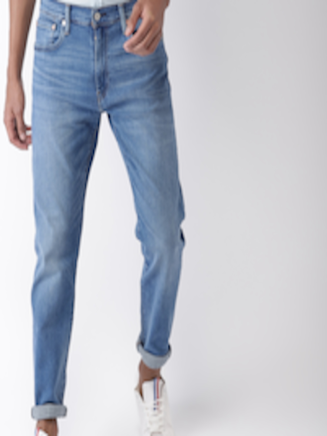 Men Blue 512 Slim Tapered Fit Mid Rise Clean Look Stretchable Jeans by Levis