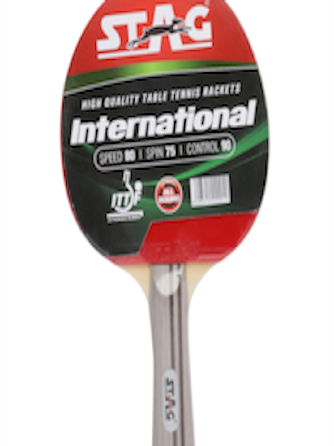 3fe1497e9a Buy STAG Red & Black International Table Tennis Bat - Table Tennis Bats for  Unisex 8242355   Myntra