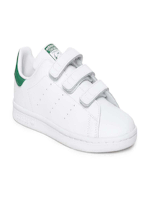 release date: 62c0c d1704 Buy ADIDAS Originals Kids White STAN SMITH CF C Sneakers - - Footwear for  Unisex