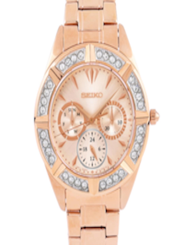423327887 Buy SEIKO LORD Women Rose Gold Toned Swarovski Dial Watch SKY680P1 ...