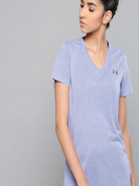 14d4ef6f Buy UNDER ARMOUR Blue Solid Threadborne Train T Shirt - Tshirts for ...