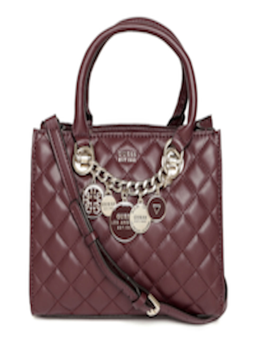 burgundy-quilted-handheld-bag by guess
