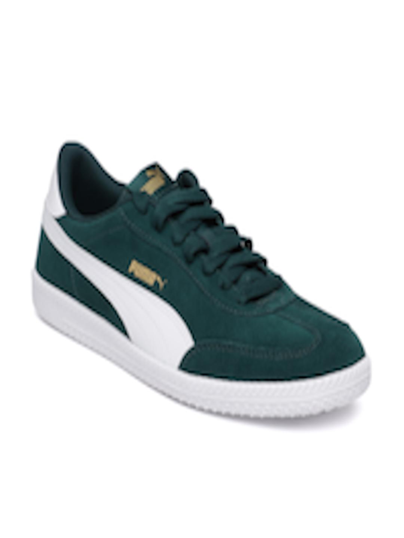 sports shoes fefd4 8ddf1 Buy Puma Men Green Astro Cup Suede Sneakers - - Footwear for Men