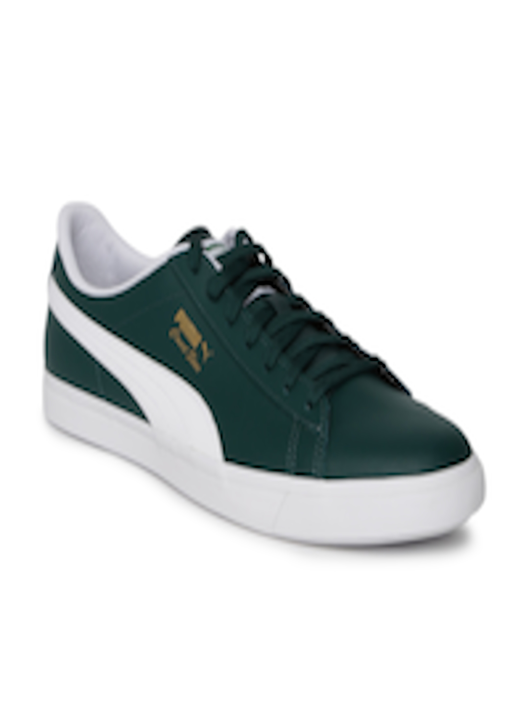 the latest abde2 42f34 Buy Puma Kids Unisex Green Court Star Vulc FS Leather Sneakers - - Footwear  for Unisex