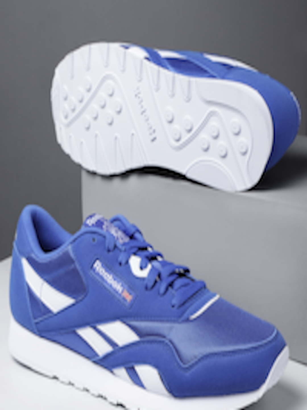26cb4ecbc23b6 Buy Reebok Classic Unisex Blue Nylon Color Sneakers - Casual Shoes for  Unisex 8497873