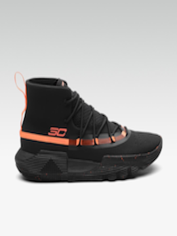 classic fit b885f 3d352 Buy UNDER ARMOUR Men Black & Orange SC 3ZER0 II Mid Top Basketball Shoes -  - Footwear for Men