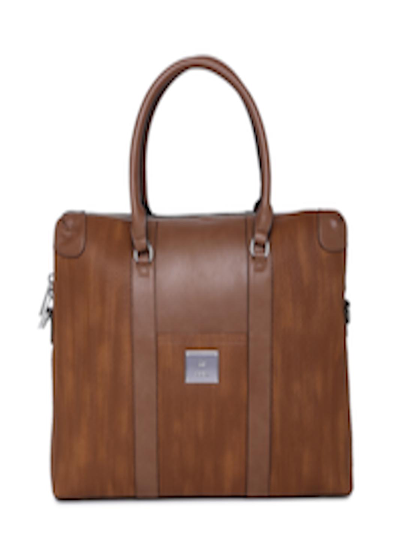 7aca2595e7 Buy Allen Solly Coffee Brown Textured Handheld Laptop Bag - Handbags for  Women 8526959 | Myntra