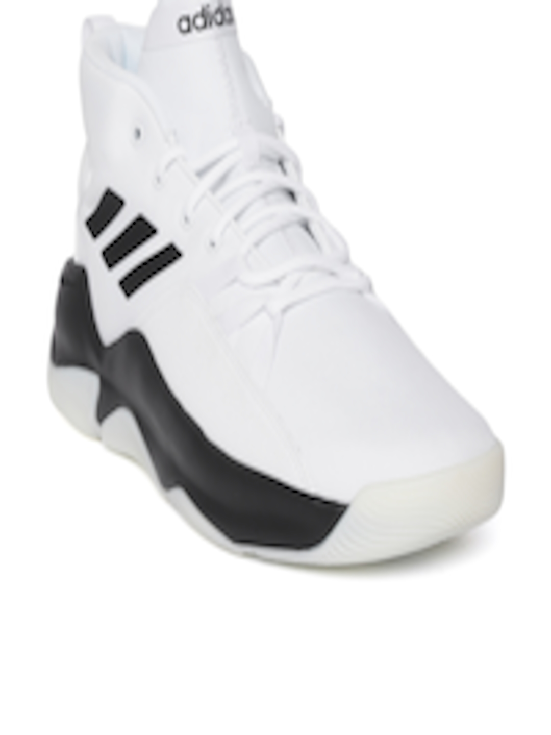 1f1d2fa1 Buy ADIDAS Men White & Black Streetfire Basketball Shoes - - Footwear for  Men