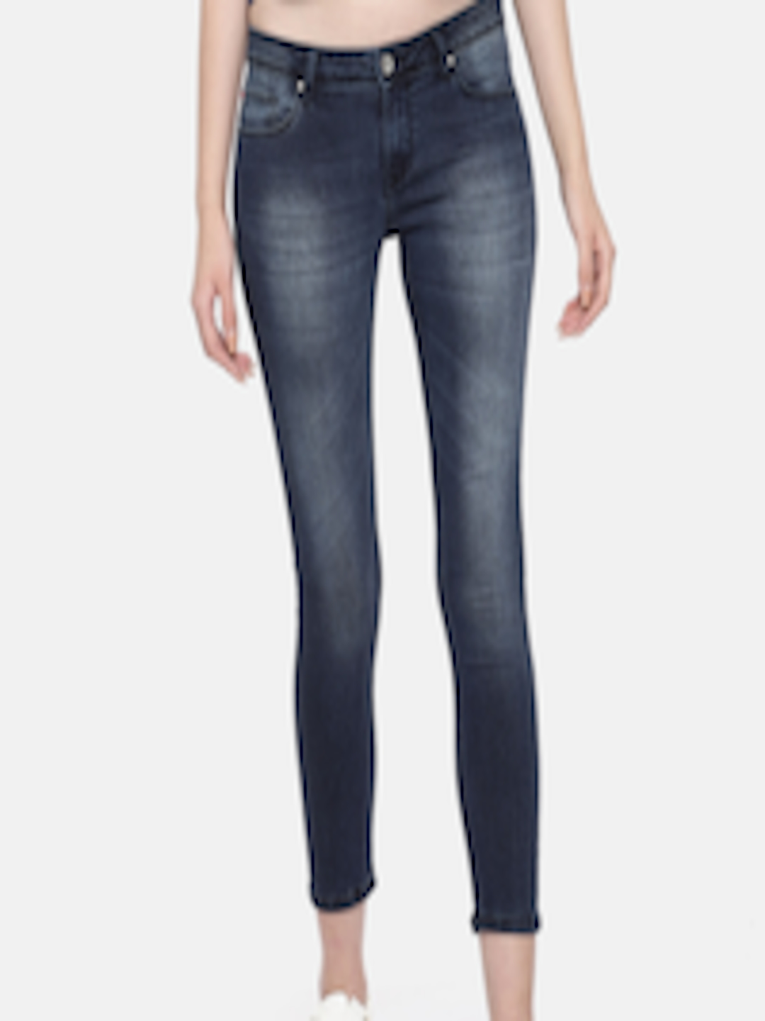 06e610cd Lee Cooper Women Blue Alexi Skinny Fit Low-Rise Clean Look Stretchable  Cropped Jeans