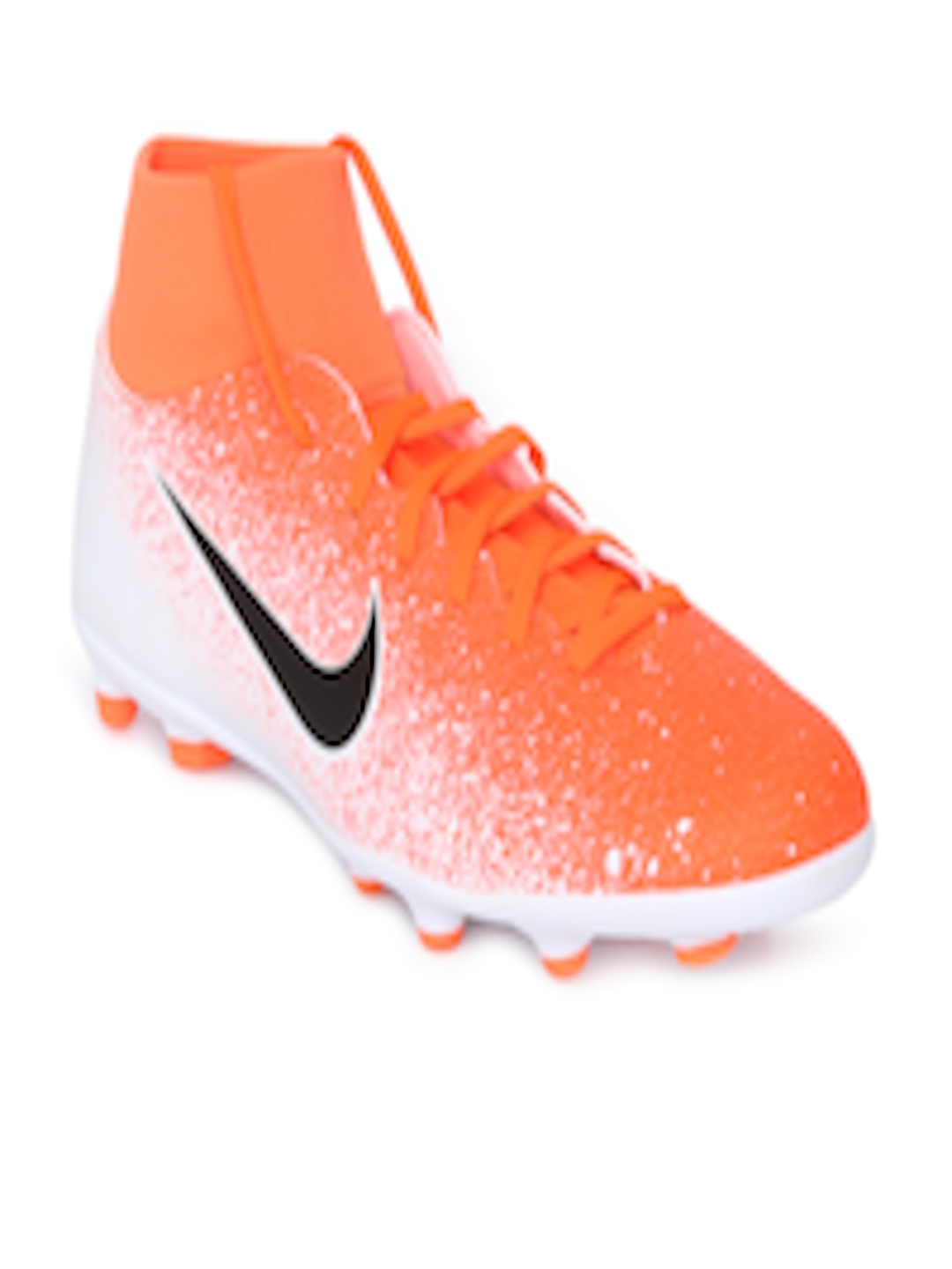 new concept cb812 653f9 Buy Nike Unisex SUPERFLY 6 CLUB FG/MG Orange Synthetic Mid Top Football  Shoes - - Footwear for Unisex
