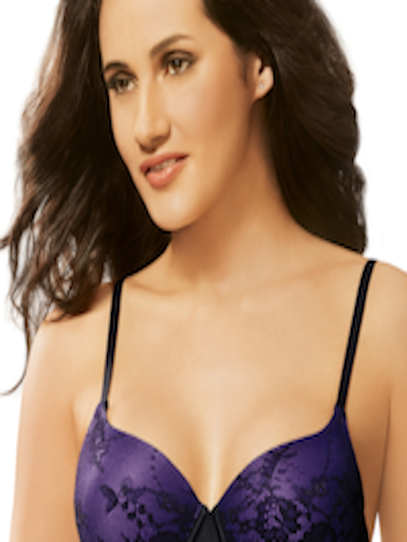 Bell Sleeve Crochet Lace Crop Top ( Purple ) | Ale Accessories