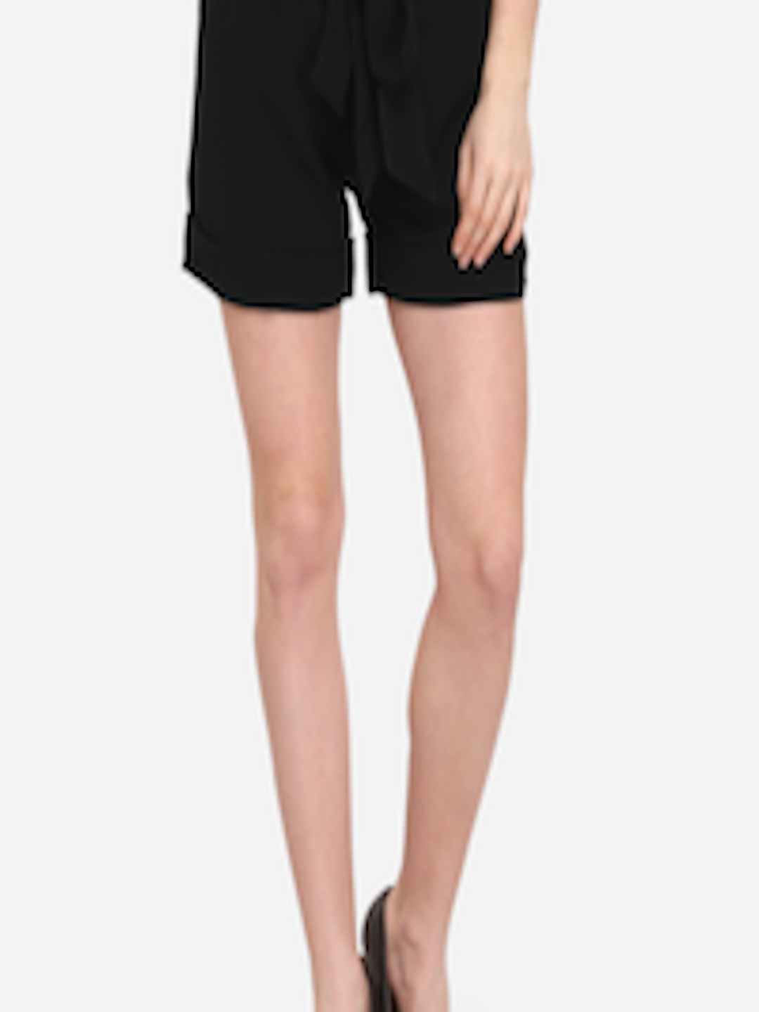 2672fcc43169b Buy Smarty Pants Women Black Solid Regular Fit Hot Pants - Shorts for Women  9328629 | Myntra
