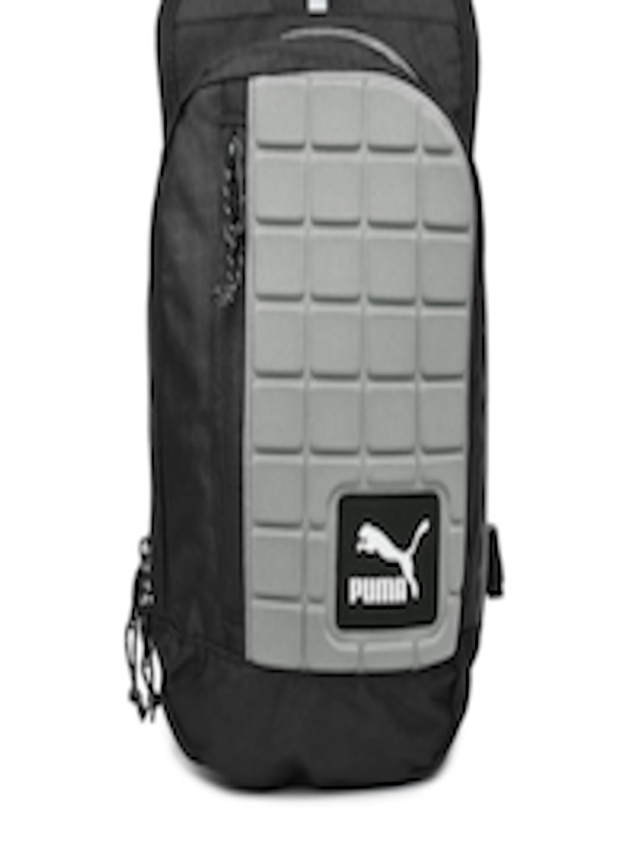 6a49babfe6 Buy PUMA Unisex Black   Grey Evo Blaze One Shoulder Backpack - Backpacks  for Unisex 935355