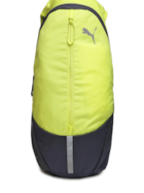 f705960478 Buy PUMA Unisex Lime Green   Grey PR Lightweight Backpack - Backpacks for  Unisex 935357