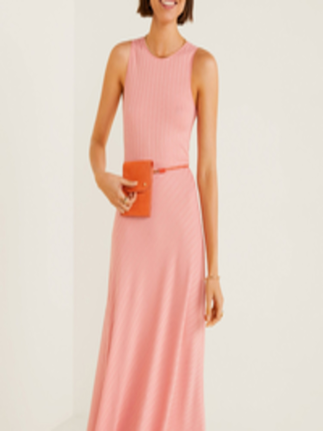 Buy Mango Women Pink Fit And Flare Dress Dresses For
