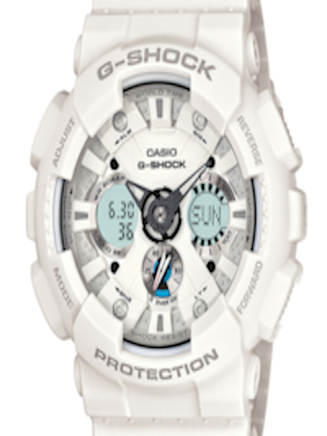 98941f236b12f Buy CASIO G Shock Men White Analogue   Digital Watch (G347) GA 120A 7ADR -  Watches for Men 95014