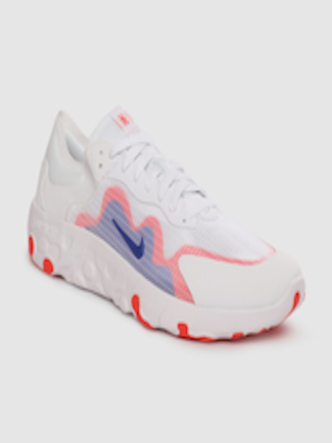 Men White Renew Lucent Sneakers by Nike
