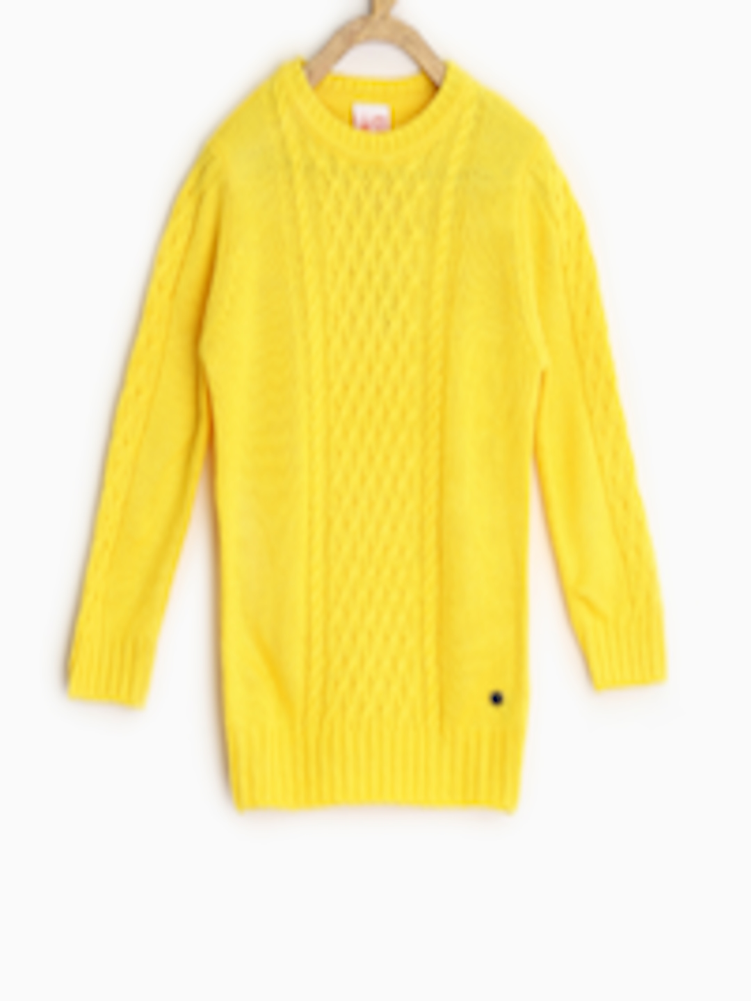 Buy FS Mini Klub Girls Yellow Sweater - Sweaters for Girls 983114 ...