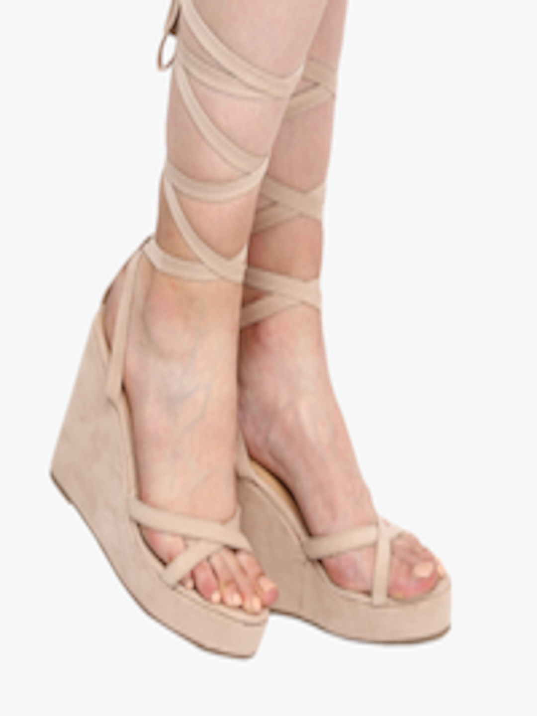Buy Mast & Harbour Women Nude Coloured Sneakers - Casual