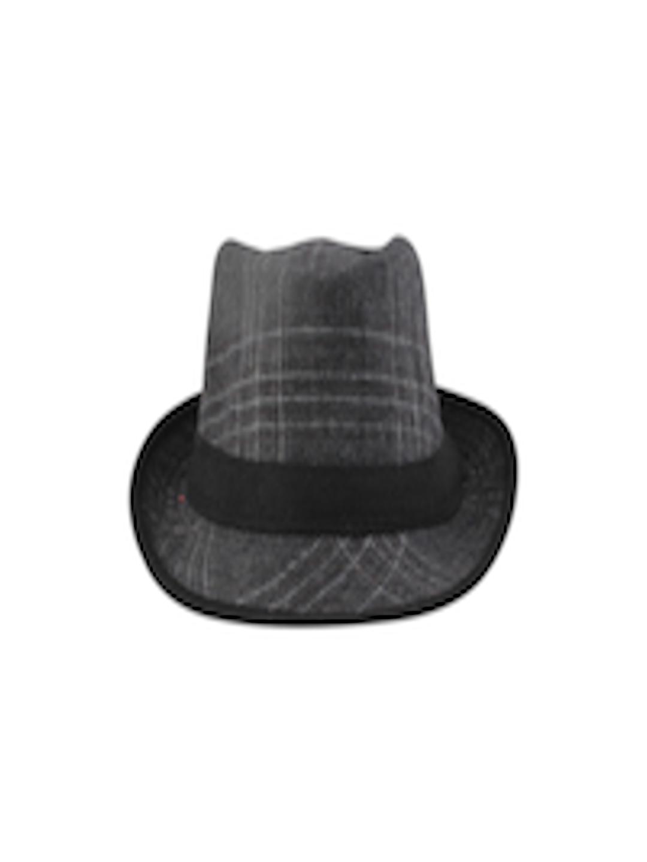 24385da9842 Buy FabSeasons Unisex Grey Checked Fedora Hat - Hat for Men 8773839 ...
