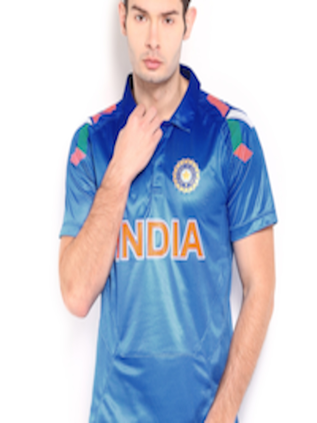 Buy Nike Blue Odi India Replica Cricket Tshirts Tshirts For Men 174113 Myntra