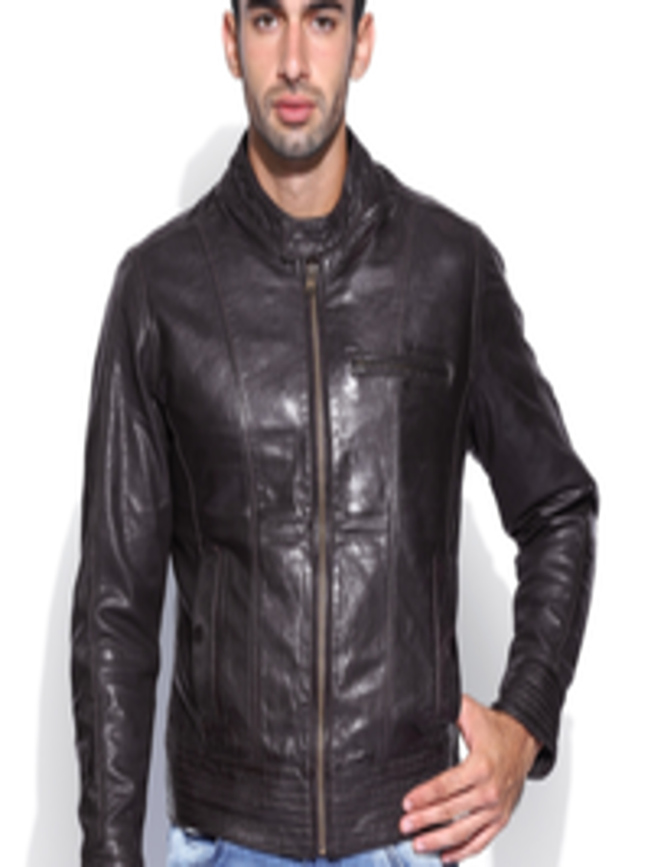 01046b765e2 Buy Hidesign Men Brown Elvis Presley Leather Jacket - Jackets for Men  496058