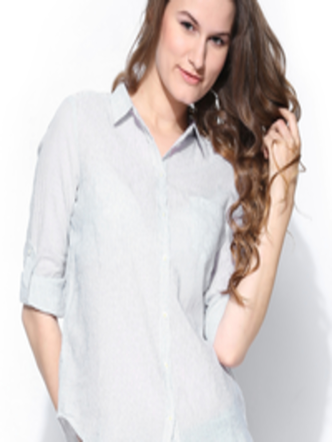 Buy ONLY Women Off White   Black Striped Shirt - Shirts for Women 683842  7da27f7a0