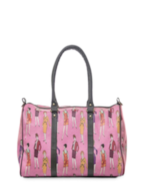 68e374d25302 Buy BandBox Women Pink Printed Duffel Bag - Duffel Bag for Women 854780