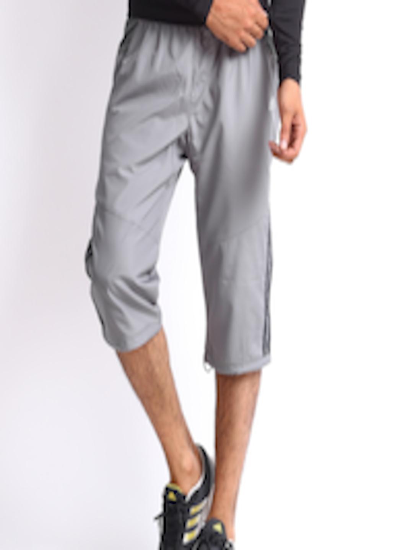 f055db52d847 Buy ADIDAS Men Grey 3 4 Length Track Pants - Shorts for Men 252823 ...