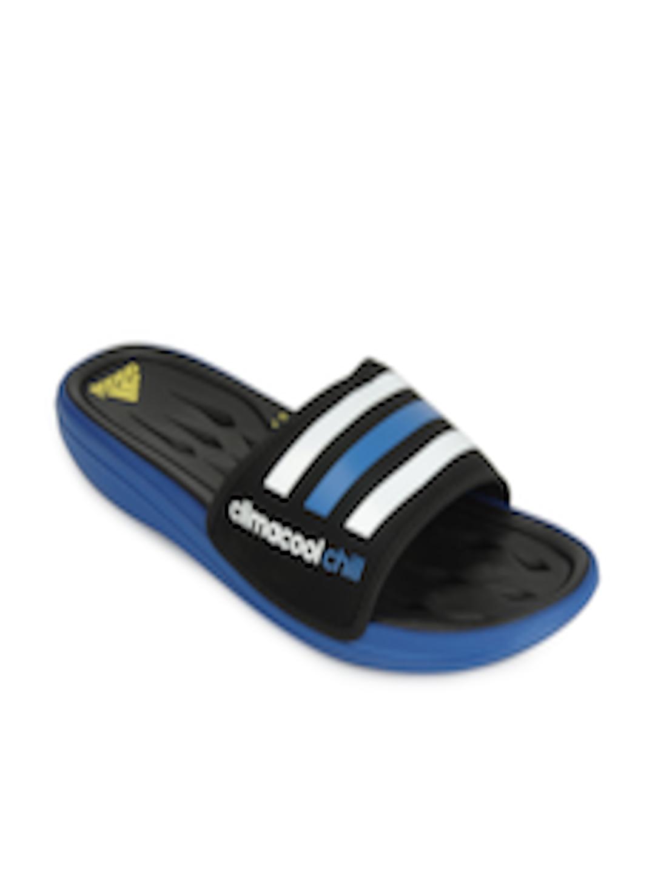 big sale 4c926 e3196 Buy ADIDAS Men Black & White Cc Recovery Slide Flip Flops - - Footwear for  Men