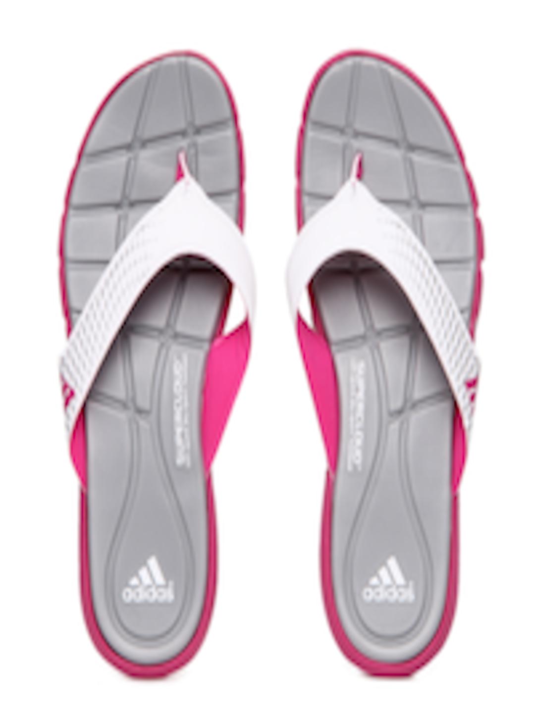 Buy Adidas Women White  Grey Adipure 360 Flip Flops -5092