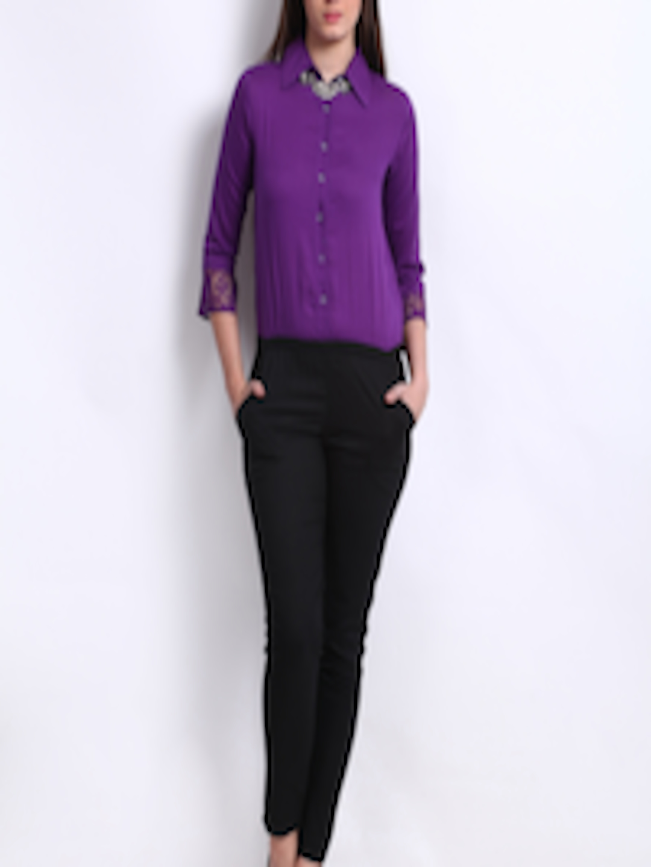 90aa184c06 Buy cottinfab women purple black jumpsuit for women myntra JPG 1080x1440  Women purple jumpsuit