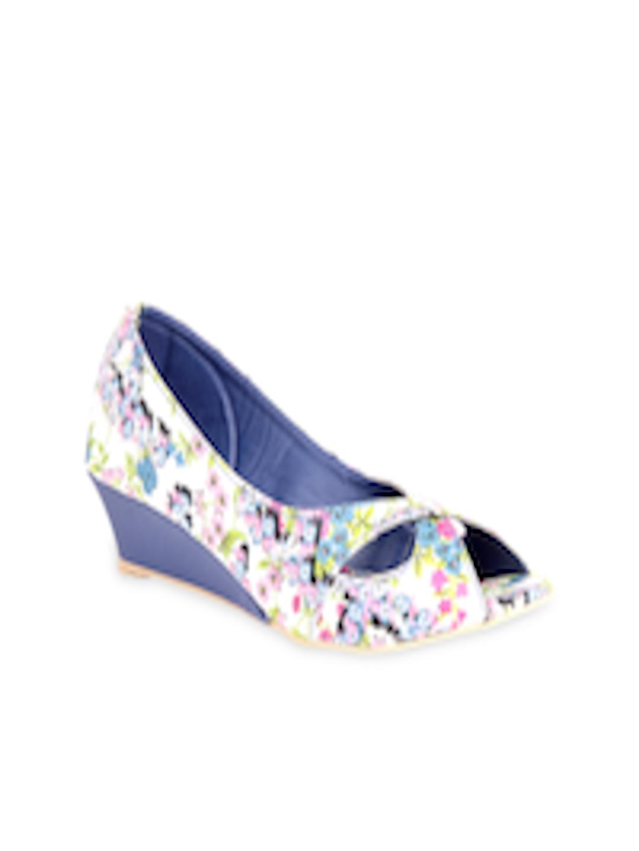 Buy Do Bhai Women Blue Wedges - Heels for Women 429730 ...