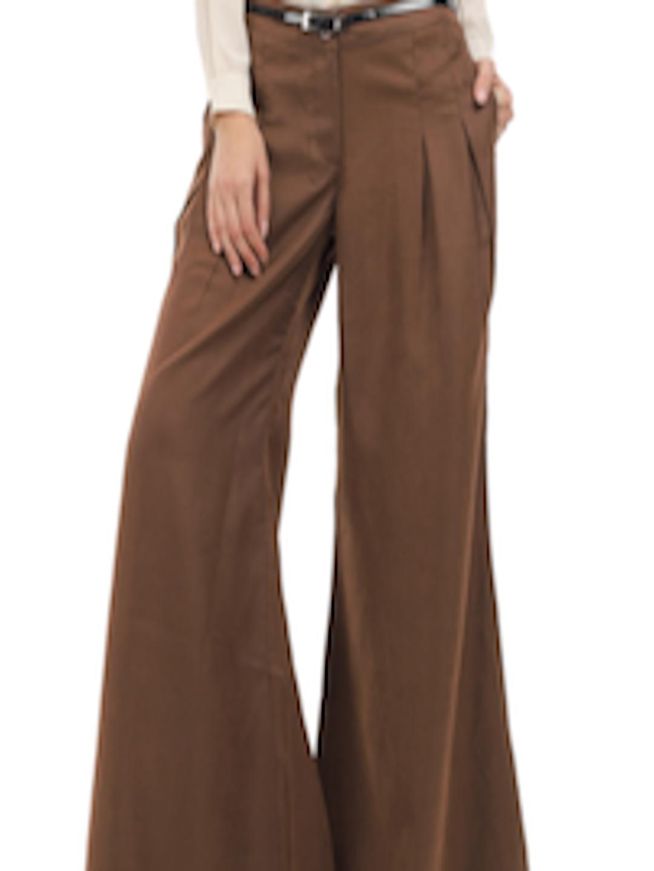 Smart Buy Auto >> Buy Elle Women Brown Palazzo Pants - Trousers for Women ...