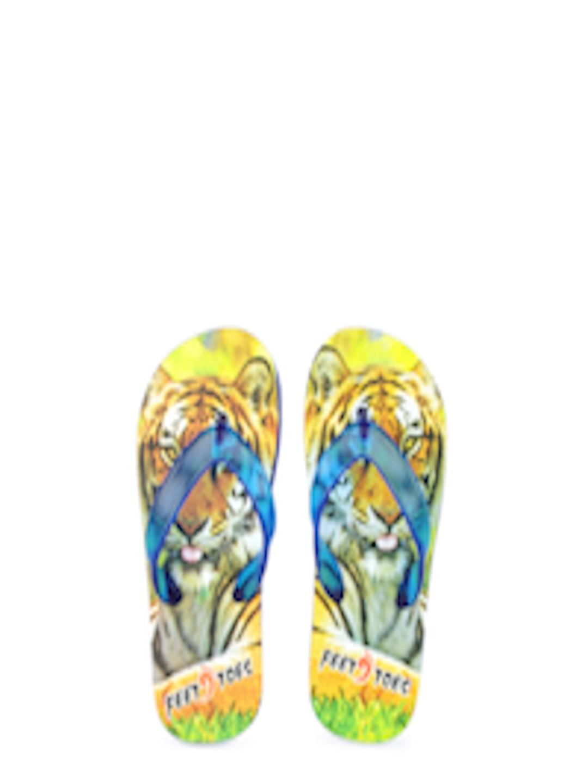Buy Feet  Toes Kids Multi Coloured Tiger Print Flip Flops -7215
