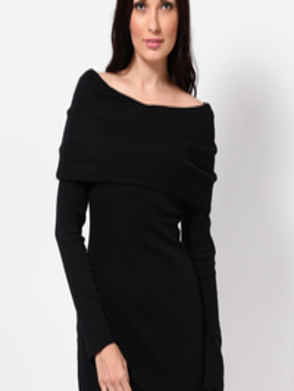 Buy Femella Front Ruffle Top For Women: Buy Femella Black Jersey Dress