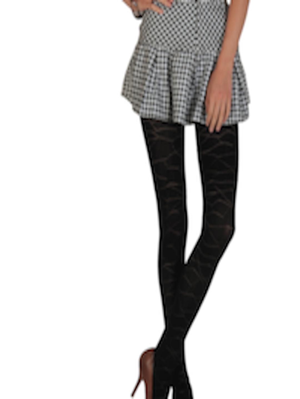 Buy Femella Front Ruffle Top For Women: Buy Femella Women Black Stockings